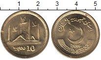 Изображение Мелочь Пакистан 10 рупий 2016 Латунь UNC