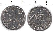 Изображение Монеты Центральная Африка 50 франков 1983 Медно-никель XF