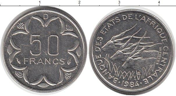 Картинка Монеты Центральная Африка 50 франков Медно-никель 1984