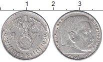 Изображение Монеты Третий Рейх 2 марки 1939 Серебро XF В. Пауль фон Гинденб