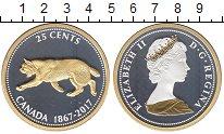 Изображение Монеты Канада 25 центов 2017 Серебро UNC