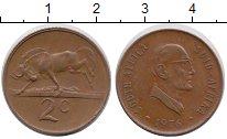 Изображение Монеты ЮАР 2 цента 1976 Бронза XF
