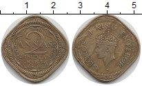 Изображение Монеты Индия 2 анны 1944 Латунь XF
