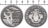 Изображение Монеты Сейшелы 100 рупий 1978 Серебро Proof- Птицы