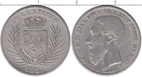 Картинка Монеты Бельгийское Конго 50 сантим Серебро 1887