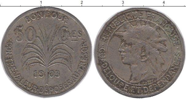 Картинка Монеты Гваделупа 50 сантим Медно-никель 1903