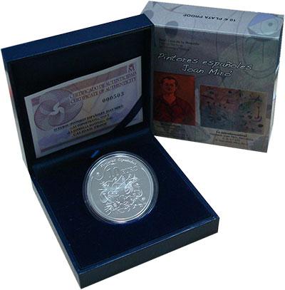 Изображение Подарочные монеты Испания 10 евро 2012 Серебро Proof