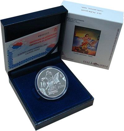 Изображение Подарочные монеты Испания 10 евро 2004 Серебро Proof 100 лет со дня рожде