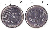 Изображение Дешевые монеты Бразилия 10 сентаво 1995 Медно-никель XF