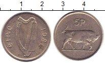 Изображение Дешевые монеты Ирландия 5 пенсов 1985 Медно-никель XF