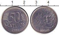 Изображение Дешевые монеты Бразилия 50 сентаво 1994 нержавеющая сталь XF