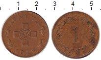Изображение Дешевые монеты Мальта 1 цент 1975 Медь XF
