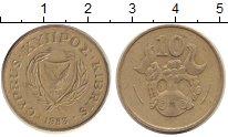 Изображение Дешевые монеты Кипр 10 центов 1983 Медь XF-