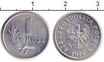 Изображение Дешевые монеты Польша 1 грош 1949 Алюминий