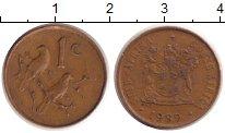 Изображение Дешевые монеты ЮАР 1 цент 1989 Медь XF