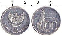 Изображение Дешевые монеты Индонезия 100 рупий 1999 Алюминий VF