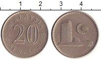 Изображение Дешевые монеты Малайзия 20 центов 1976 Медно-никель VF