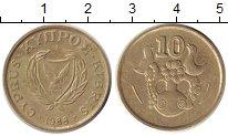 Изображение Дешевые монеты Кипр 10 центов 1988 Латунь XF