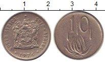 Изображение Дешевые монеты ЮАР 10 центов 1974 Медно-никель VF