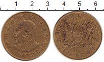 Изображение Дешевые монеты Кения 10 центов 1970 Латунь VF