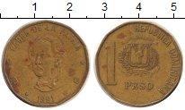 Изображение Дешевые монеты Доминиканская республика 1 песо 1991 Латунь VG