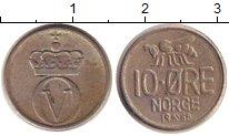 Изображение Дешевые монеты Норвегия 10 эре 1968 Медно-никель VF+