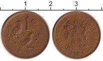 Изображение Дешевые монеты ЮАР 1 цент 1989 Медь VF