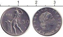 Изображение Дешевые монеты Италия 50 лир 1993 Медно-никель