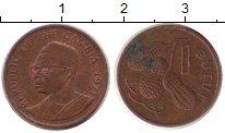 Изображение Дешевые монеты Гамбия 1 бутут 1971 Медь VF