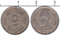 Изображение Монеты Египет 5 миллим 1938 Медно-никель XF