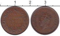 Изображение Монеты Индия 1/4 анны 1939 Бронза XF