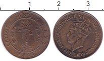 Изображение Монеты Цейлон 1 цент 1943 Бронза XF
