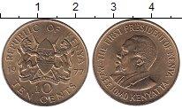 Изображение Монеты Кения 10 центов 1977 Латунь UNC-