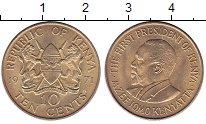 Изображение Монеты Кения 10 центов 1971 Латунь UNC-