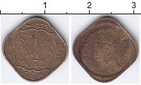 Изображение Монеты Индия 1/2 анны 1943 Латунь XF