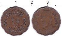 Изображение Монеты Египет 10 миллим 1938 Бронза XF