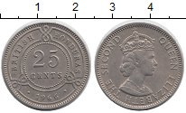 Изображение Монеты Белиз 25 центов 1966 Медно-никель XF Елизавета II
