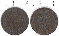 Изображение Монеты Германия Нассау 1 крейцер 1834 Медь VF