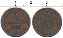 Изображение Монеты Германия Саксония 2 пфеннига 1869 Медь XF-