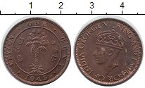 Изображение Монеты Шри-Ланка Цейлон 1 цент 1945 Бронза XF
