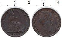 Изображение Монеты Великобритания 1 фартинг 1882 Бронза XF