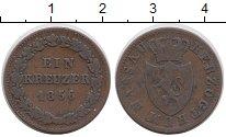Изображение Монеты Германия Нассау 1 крейцер 1856 Медь XF-
