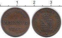 Изображение Монеты Саксен-Майнинген 1 пфенниг 1867 Медь VF