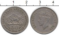 Изображение Монеты Великобритания Восточная Африка 50 центов 1948 Медно-никель XF