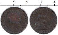 Изображение Монеты Великобритания 1 фартинг 1875 Бронза XF