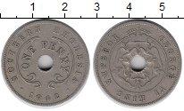 Изображение Монеты Родезия 1 пенни 1942 Медно-никель VF