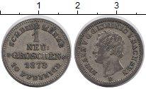 Изображение Монеты Германия Саксония 1 грош 1873 Серебро XF-