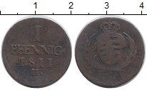 Изображение Монеты Германия Саксония 1 пфенниг 1811 Медь VF