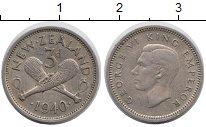 Изображение Монеты Новая Зеландия 3 пенса 1940 Медно-никель XF