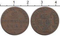 Изображение Монеты Пруссия 2 пфеннига 1845 Медь VF